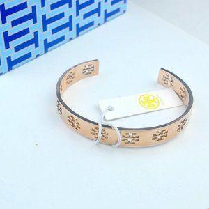 Tory Burch Rose Gold Hollow Adjustable Bracelet